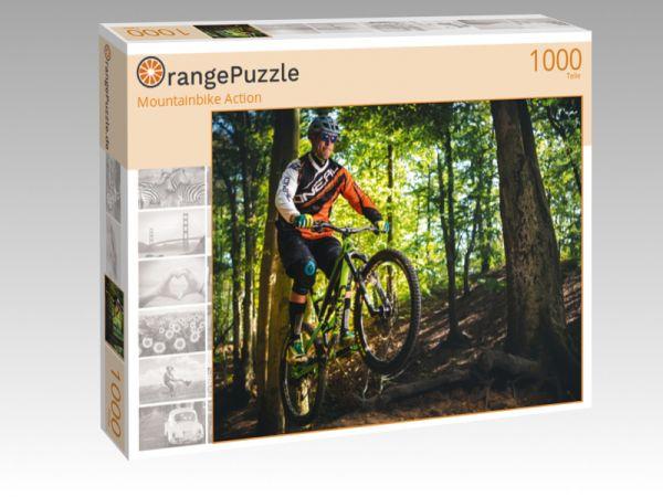 """Puzzle Motiv """"Mountainbike Action"""" - Puzzle-Schachtel zu 1000 Teile Puzzle"""