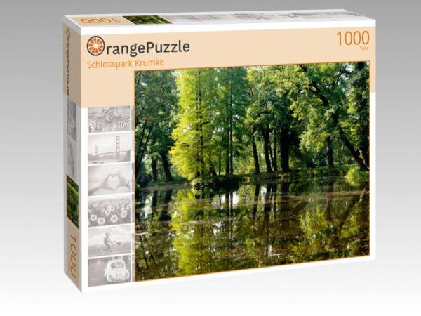 """Puzzle Motiv """"Schlosspark Krumke"""" - Puzzle-Schachtel zu 1000 Teile Puzzle"""