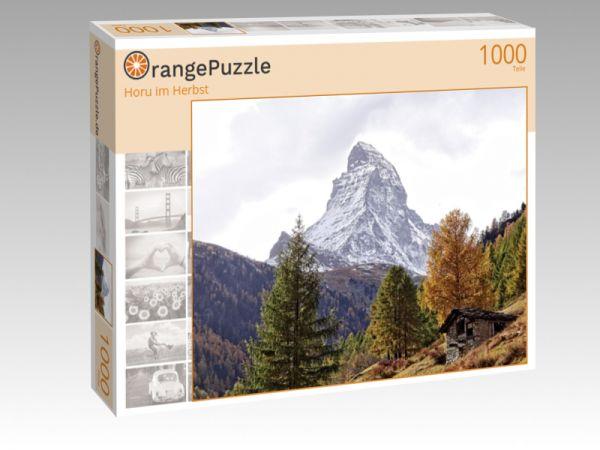 """Puzzle Motiv """"Horu im Herbst"""" - Puzzle-Schachtel zu 1000 Teile Puzzle"""