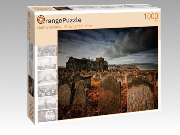 """Puzzle Motiv """"Gothic Fantasy - Friedhof am Meer"""" - Puzzle-Schachtel zu 1000 Teile Puzzle"""