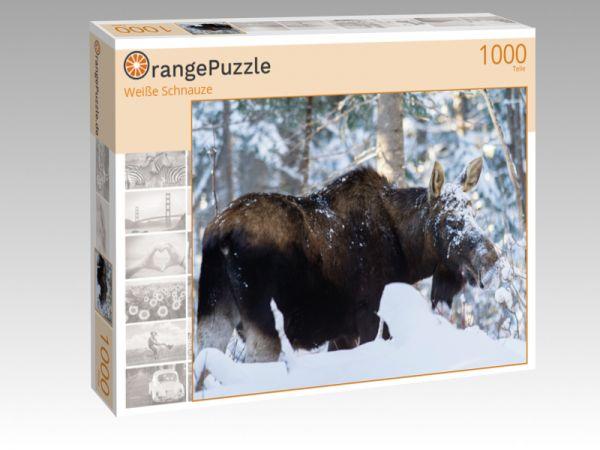 """Puzzle Motiv """"Weiße Schnauze"""" - Puzzle-Schachtel zu 1000 Teile Puzzle"""