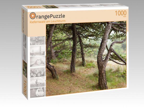 "Puzzle Motiv ""Kiefernwald am Leuchtturm"" - Puzzle-Schachtel zu 1000 Teile Puzzle"
