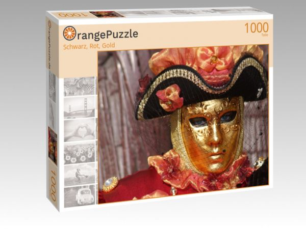 "Puzzle Motiv ""Schwarz, Rot, Gold"" - Puzzle-Schachtel zu 1000 Teile Puzzle"