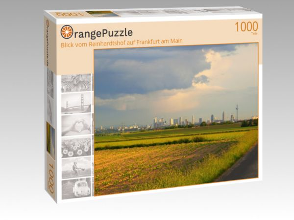 """Puzzle Motiv """"Blick vom Reinhardtshof auf Frankfurt am Main"""" - Puzzle-Schachtel zu 1000 Teile Puzzle"""