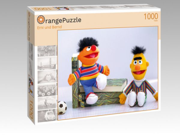 "Puzzle Motiv ""Erni und Bernd"" - Puzzle-Schachtel zu 1000 Teile Puzzle"