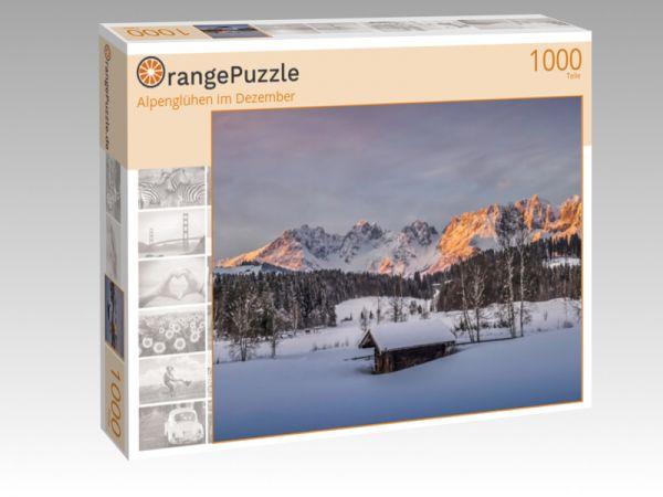 "Puzzle Motiv ""Alpenglühen im Dezember"" - Puzzle-Schachtel zu 1000 Teile Puzzle"
