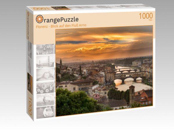 "Puzzle Motiv ""Florenz - Blick auf den Fluß Arno"" - Puzzle-Schachtel zu 1000 Teile Puzzle"