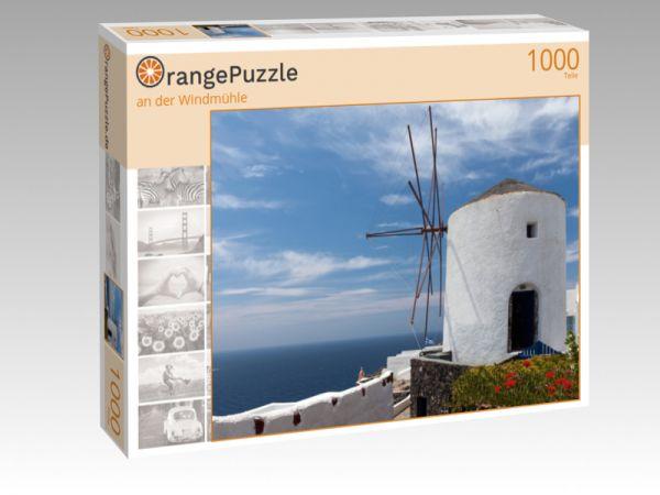 "Puzzle Motiv ""an der Windmühle"" - Puzzle-Schachtel zu 1000 Teile Puzzle"