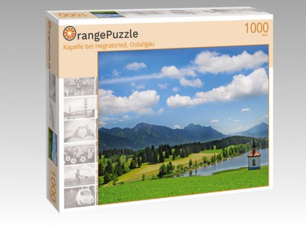 "Puzzle Motiv ""Kapelle bei Hegratsried, Ostallgäu"" - Puzzle-Schachtel zu 1000 Teile Puzzle"