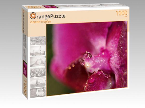 """Puzzle Motiv """"Violette Tropfen"""" - Puzzle-Schachtel zu 1000 Teile Puzzle"""