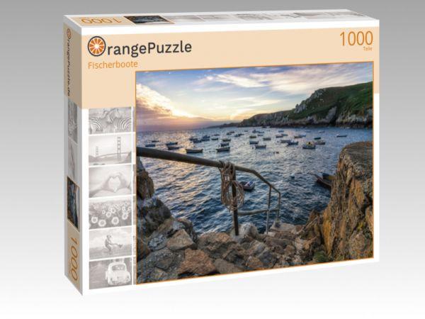 """Puzzle Motiv """"Fischerboote"""" - Puzzle-Schachtel zu 1000 Teile Puzzle"""