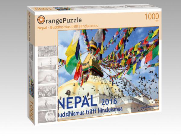 "Puzzle Motiv ""Nepal - Buddhismus trifft Hinduismus"" - Puzzle-Schachtel zu 1000 Teile Puzzle"