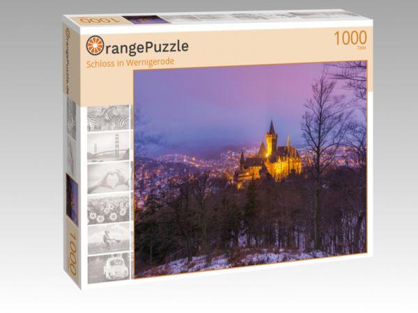"""Puzzle Motiv """"Schloss in Wernigerode"""" - Puzzle-Schachtel zu 1000 Teile Puzzle"""