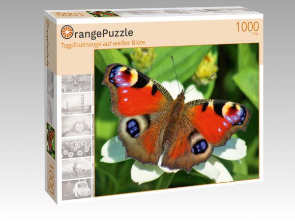 """Puzzle Motiv """"Tagpfauenauge auf weißer Blüte"""" - Puzzle-Schachtel zu 1000 Teile Puzzle"""