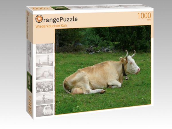 """Puzzle Motiv """"Wiederkäuende Kuh"""" - Puzzle-Schachtel zu 1000 Teile Puzzle"""