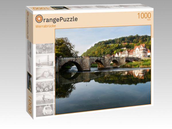 """Puzzle Motiv """"Werrabrücke"""" - Puzzle-Schachtel zu 1000 Teile Puzzle"""