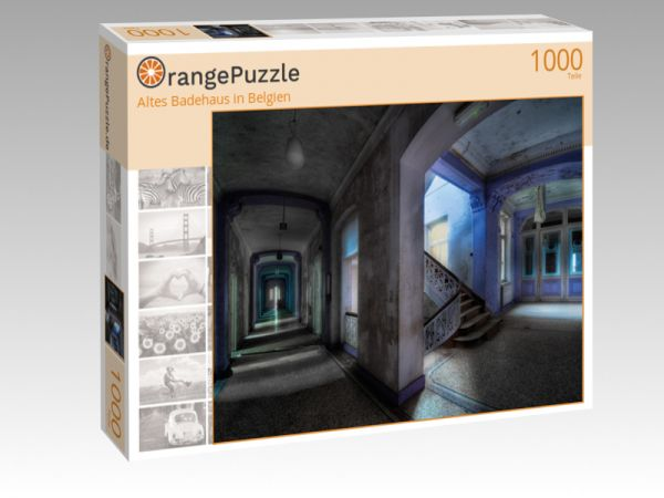 "Puzzle Motiv ""Altes Badehaus in Belgien"" - Puzzle-Schachtel zu 1000 Teile Puzzle"
