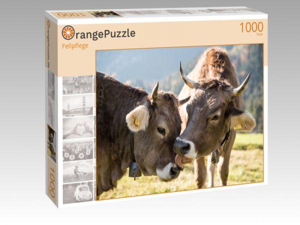 """Puzzle Motiv """"Fellpflege"""" - Puzzle-Schachtel zu 1000 Teile Puzzle"""