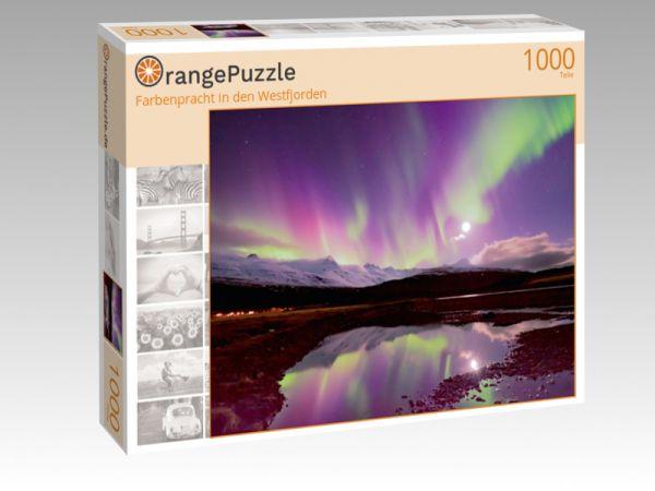 """Puzzle Motiv """"Farbenpracht in den Westfjorden"""" - Puzzle-Schachtel zu 1000 Teile Puzzle"""
