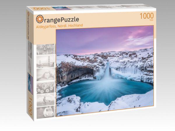 "Puzzle Motiv ""Aldeyjarfoss, Nördl. Hochland"" - Puzzle-Schachtel zu 1000 Teile Puzzle"