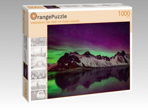 """Puzzle Motiv """"Vestrahorn bei Höfn im Osten Islands"""" - Puzzle-Schachtel zu 1000 Teile Puzzle"""