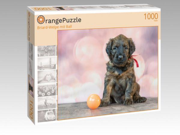 """Puzzle Motiv """"Briard-Welpe mit Ball"""" - Puzzle-Schachtel zu 1000 Teile Puzzle"""