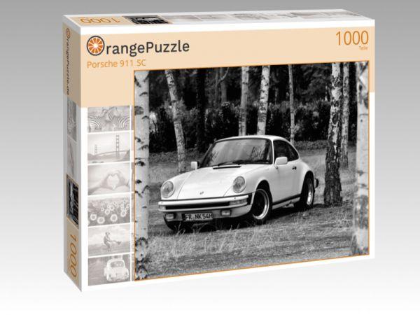 """Puzzle Motiv """"Porsche 911 SC"""" - Puzzle-Schachtel zu 1000 Teile Puzzle"""