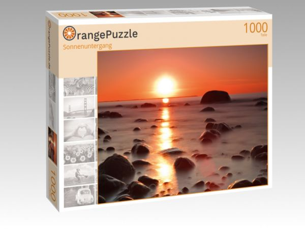 """Puzzle Motiv """"Sonnenuntergang"""" - Puzzle-Schachtel zu 1000 Teile Puzzle"""