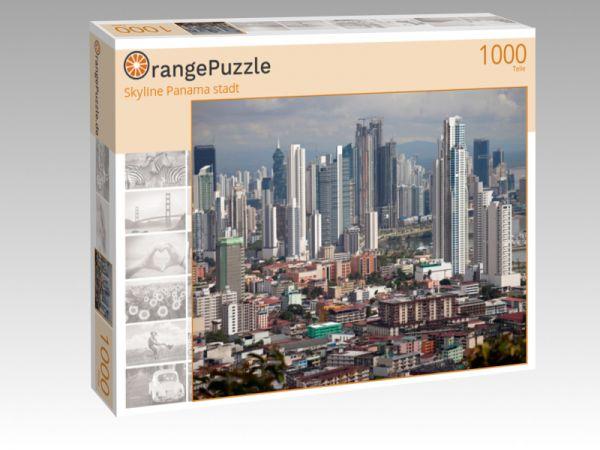 """Puzzle Motiv """"Skyline Panama stadt"""" - Puzzle-Schachtel zu 1000 Teile Puzzle"""