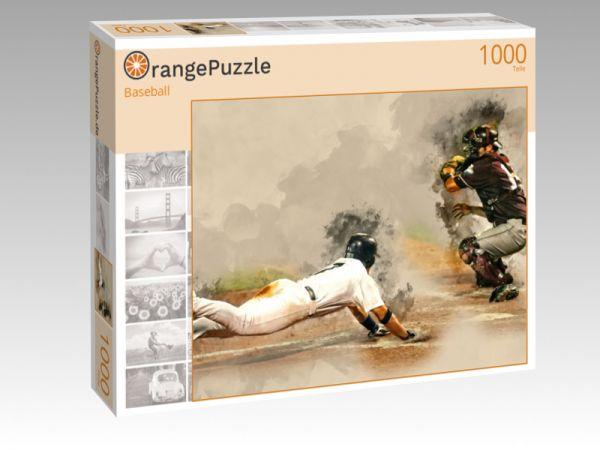"""Puzzle Motiv """"Baseball"""" - Puzzle-Schachtel zu 1000 Teile Puzzle"""