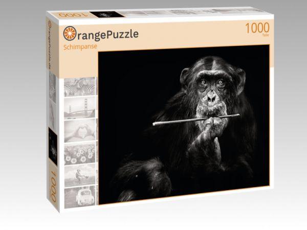 """Puzzle Motiv """"Schimpanse"""" - Puzzle-Schachtel zu 1000 Teile Puzzle"""