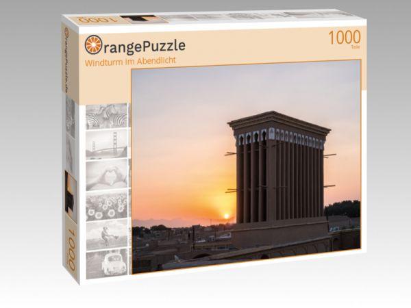 """Puzzle Motiv """"Windturm im Abendlicht"""" - Puzzle-Schachtel zu 1000 Teile Puzzle"""