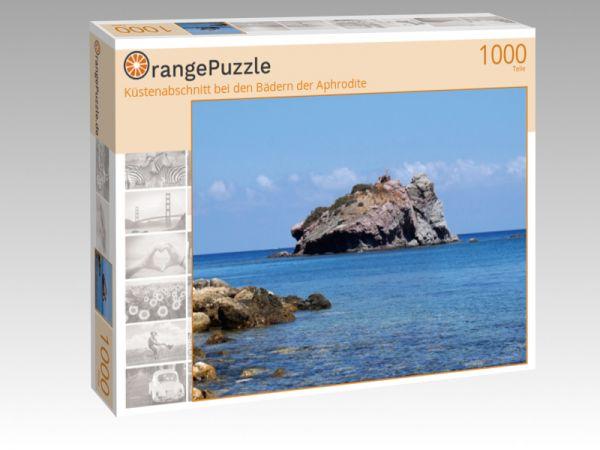 """Puzzle Motiv """"Küstenabschnitt bei den Bädern der Aphrodite"""" - Puzzle-Schachtel zu 1000 Teile Puzzle"""