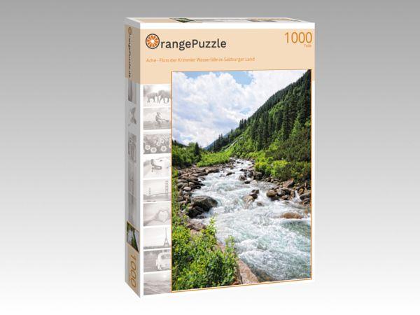 """Puzzle Motiv """"Ache - Fluss der Krimmler Wasserfälle im Salzburger Land"""" - Puzzle-Schachtel zu 1000 Teile Puzzle"""