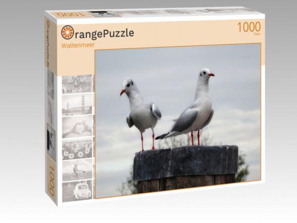 "Puzzle Motiv ""Wattenmeer"" - Puzzle-Schachtel zu 1000 Teile Puzzle"