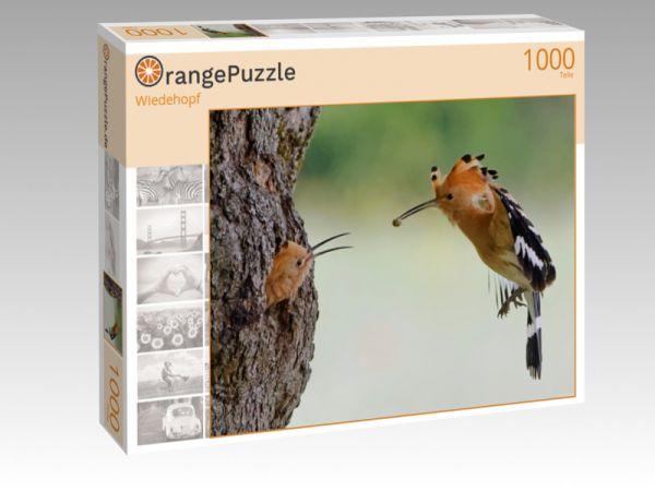 "Puzzle Motiv ""Wiedehopf"" - Puzzle-Schachtel zu 1000 Teile Puzzle"