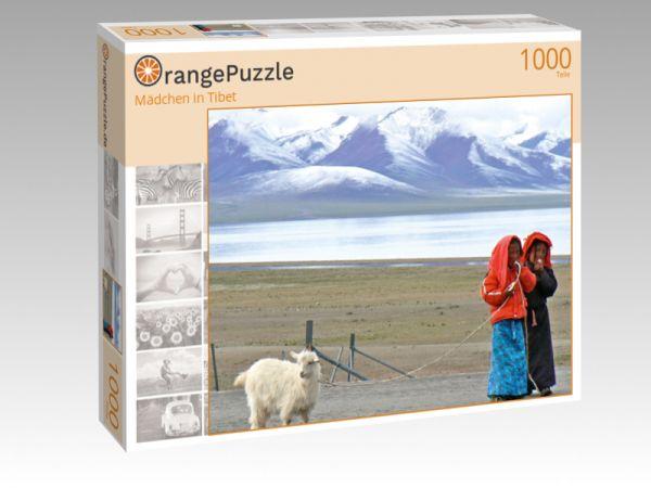 """Puzzle Motiv """"Mädchen in Tibet"""" - Puzzle-Schachtel zu 1000 Teile Puzzle"""