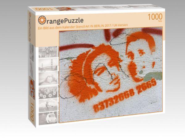 """Puzzle Motiv """"Ein Bild aus dem Kalender Stencil Art IN BERLIN 2017 / UK-Version"""" - Puzzle-Schachtel zu 1000 Teile Puzzle"""