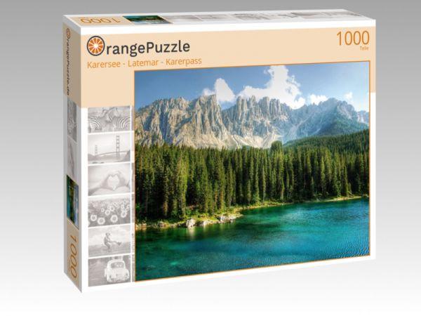"""Puzzle Motiv """"Karersee - Latemar - Karerpass"""" - Puzzle-Schachtel zu 1000 Teile Puzzle"""