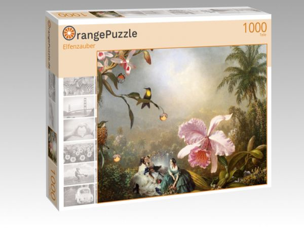 "Puzzle Motiv ""Elfenzauber"" - Puzzle-Schachtel zu 1000 Teile Puzzle"
