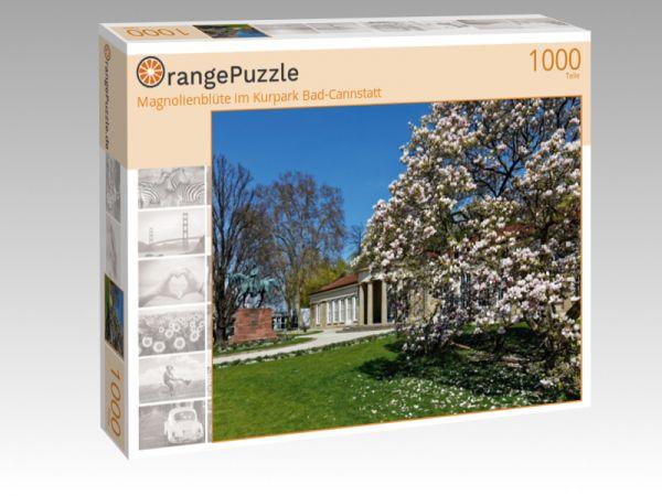 """Puzzle Motiv """"Magnolienblüte im Kurpark Bad-Cannstatt"""" - Puzzle-Schachtel zu 1000 Teile Puzzle"""