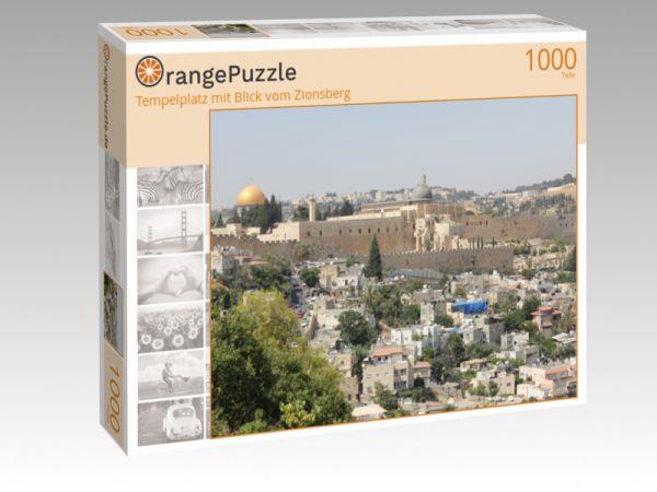 """Puzzle Motiv """"Tempelplatz mit Blick vom Zionsberg"""" - Puzzle-Schachtel zu 1000 Teile Puzzle"""