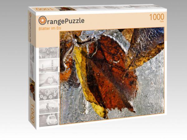 "Puzzle Motiv ""Blätter im Eis"" - Puzzle-Schachtel zu 1000 Teile Puzzle"