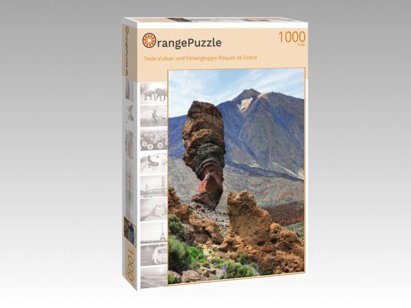 """Puzzle Motiv """"Teide Vulkan und Felsengruppe Roques de Gracía"""" - Puzzle-Schachtel zu 1000 Teile Puzzle"""