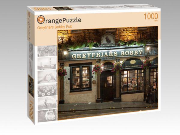 """Puzzle Motiv """"Greyfriars Bobby Pub"""" - Puzzle-Schachtel zu 1000 Teile Puzzle"""