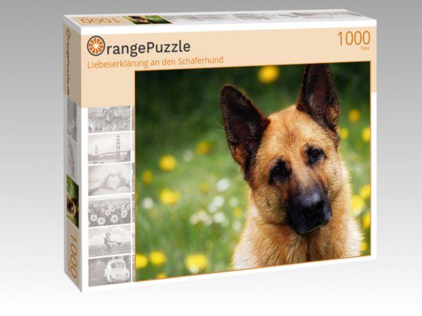 """Puzzle Motiv """"Liebeserklärung an den Schäferhund"""" - Puzzle-Schachtel zu 1000 Teile Puzzle"""