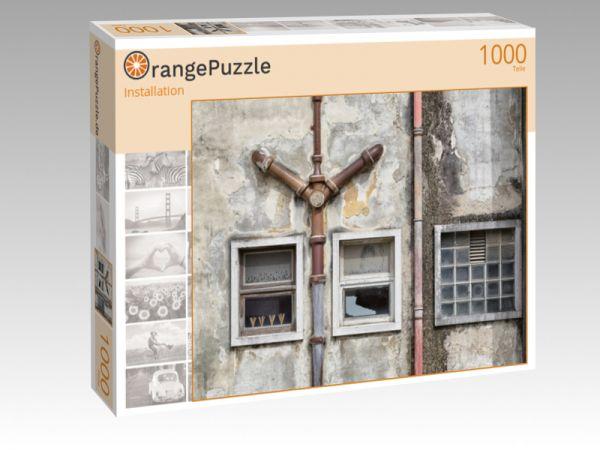 "Puzzle Motiv ""Installation"" - Puzzle-Schachtel zu 1000 Teile Puzzle"