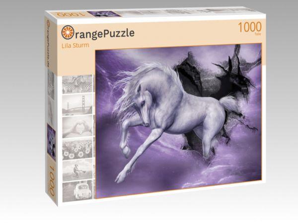 """Puzzle Motiv """"Lila Sturm"""" - Puzzle-Schachtel zu 1000 Teile Puzzle"""