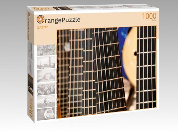 """Puzzle Motiv """"Gitarre"""" - Puzzle-Schachtel zu 1000 Teile Puzzle"""