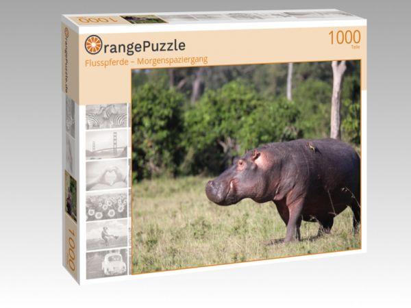 """Puzzle Motiv """"Flusspferde – Morgenspaziergang"""" - Puzzle-Schachtel zu 1000 Teile Puzzle"""